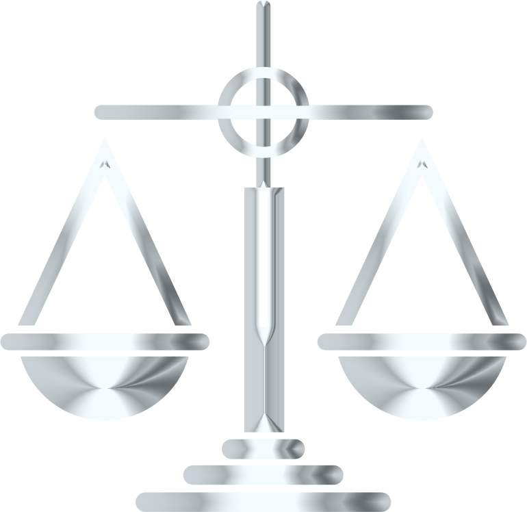 Silver Scales Of Justice Icon