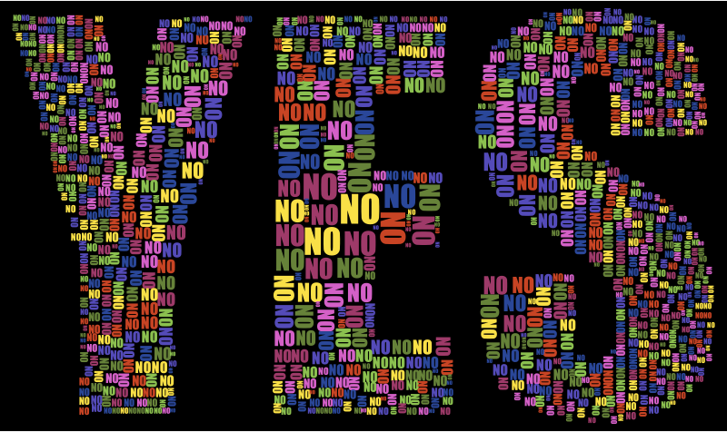 Yes And No Typography