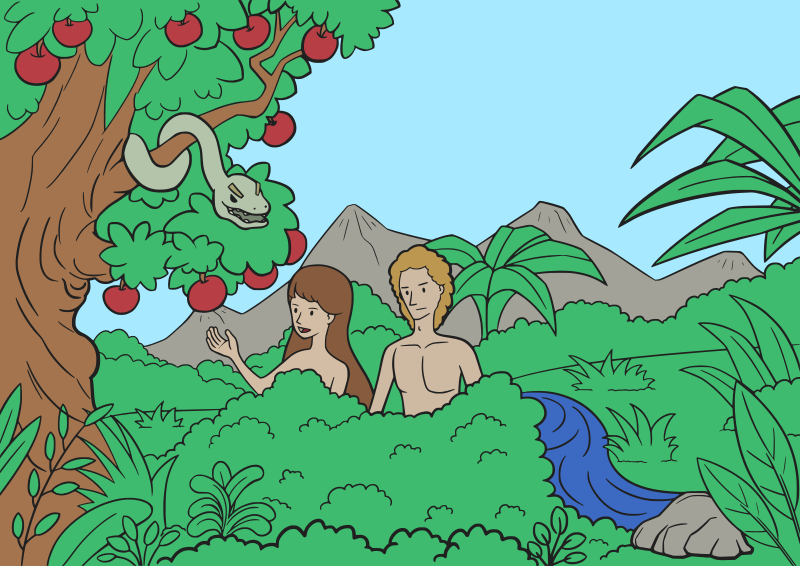 Adam and Eve Colour