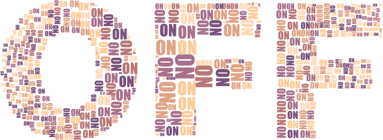 On And Off Two No Background