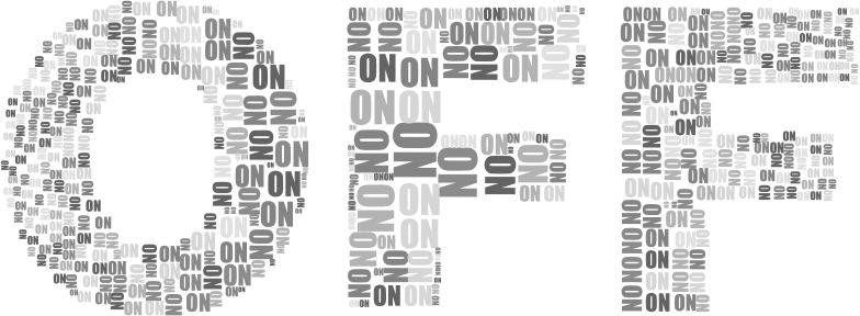 On And Off Two Grayscale
