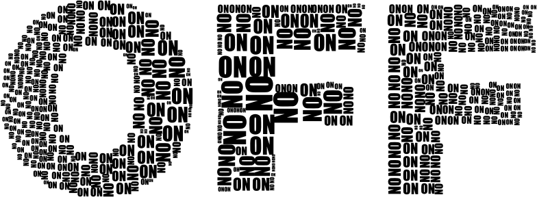 On And Off Two Black