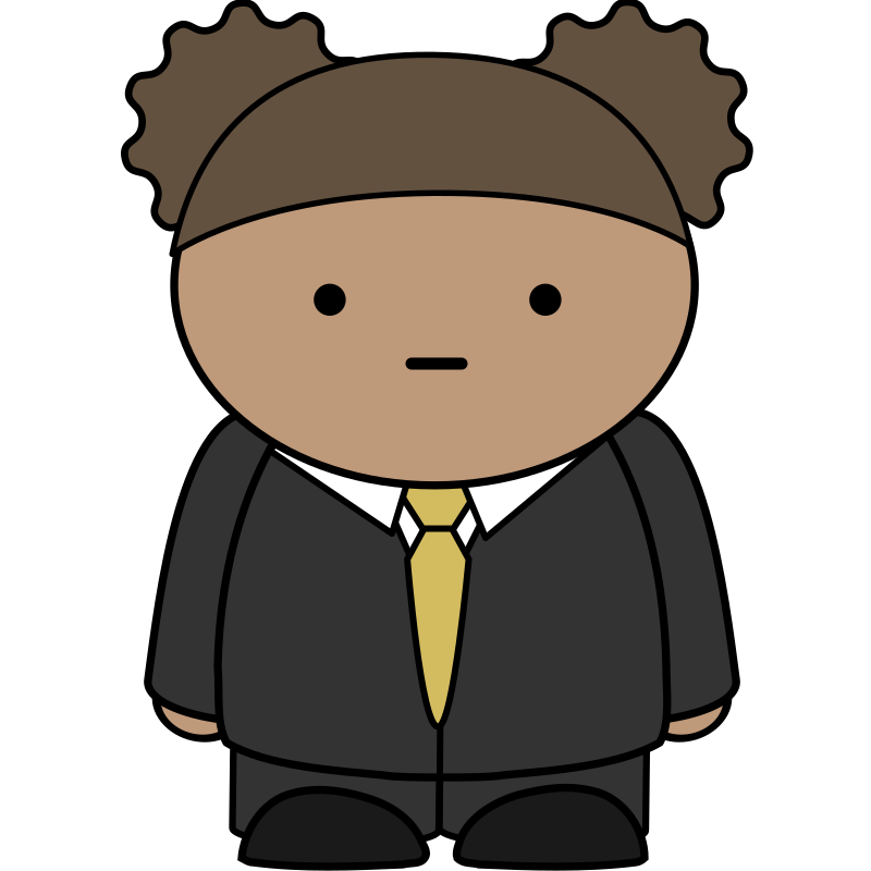 Comic character wearing a business suit