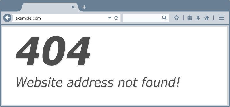 404 Site Not Found
