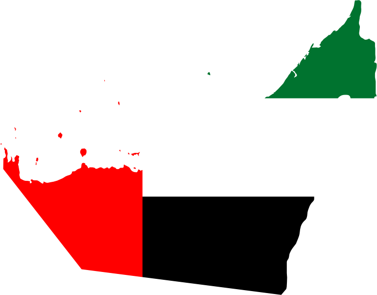 United Arab Emirates Map Flag