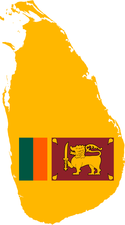 Sri Lanka Map Flag