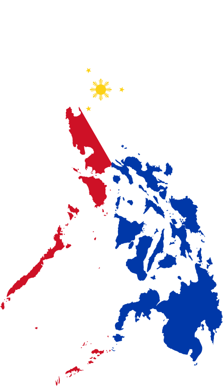 Philippines Map Flag