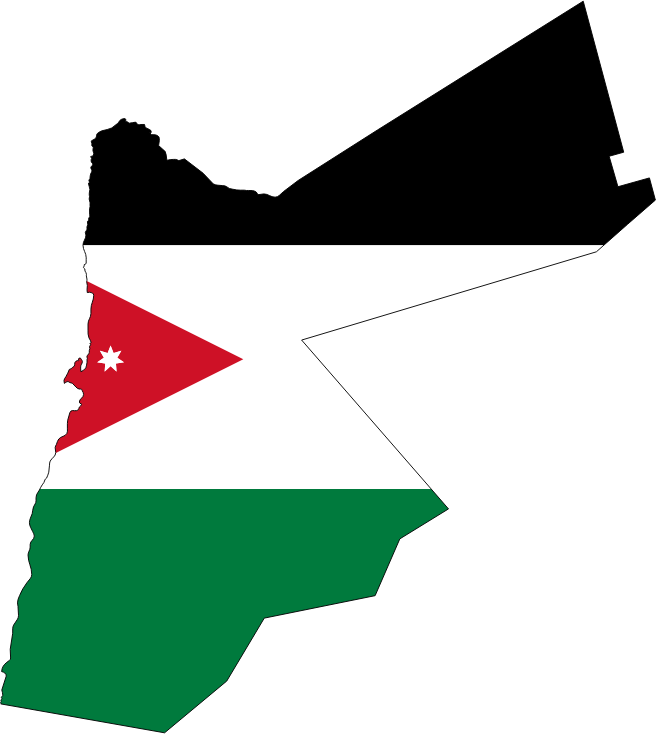 Jordan Map Flag With Stroke