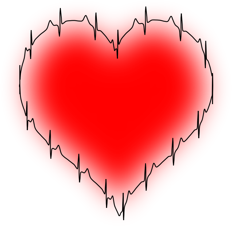ECG heart (colour)