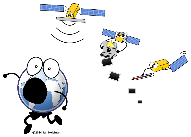 Cartoon Sentinel satellites / parody