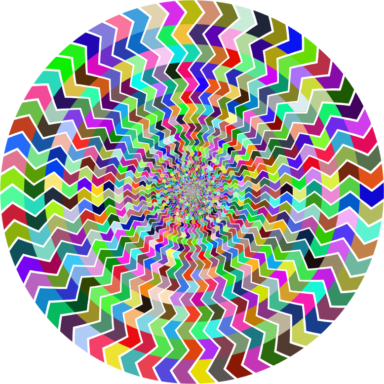 Prismatic Zig Zag Illusion Vortex
