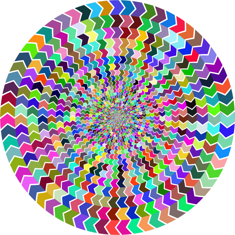 Prismatic Zig Zag Illusion Vortex 2