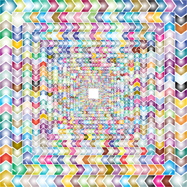 Prismatic Zig Zag Illusion Tunnel