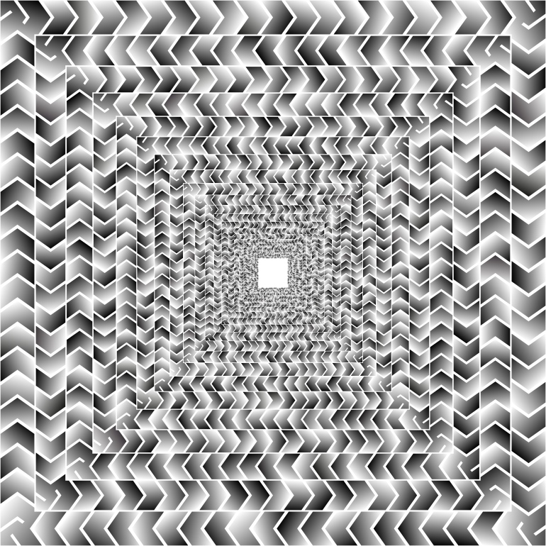 Prismatic Zig Zag Illusion Tunnel 2