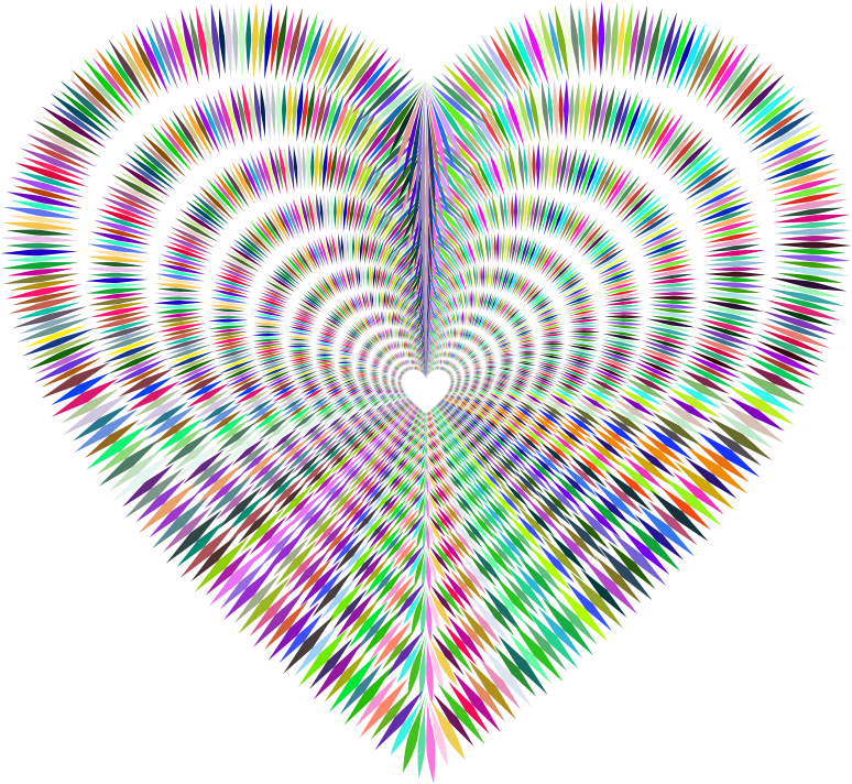 Prismatic Sharp Spiky Heart Tunnel