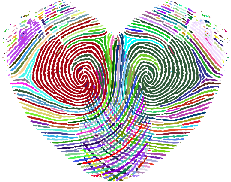 Prismatic Fingerprint Heart