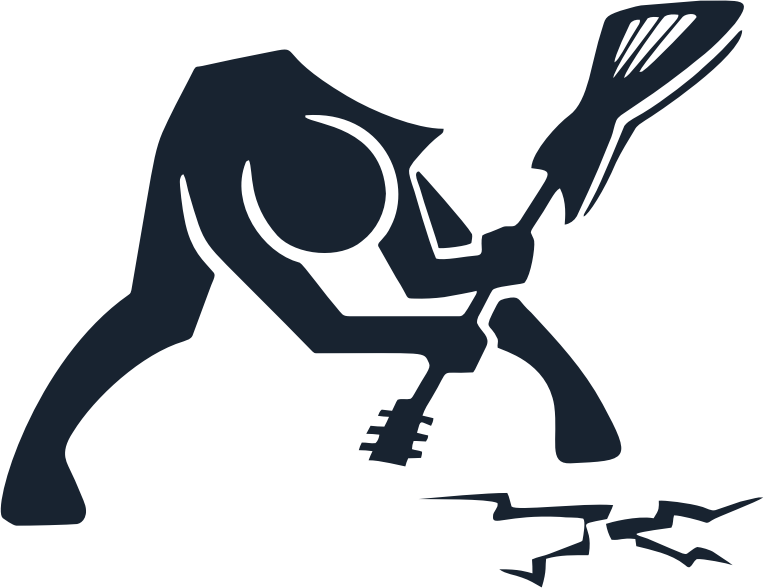 Breaking Ground With Guitar Silhouette