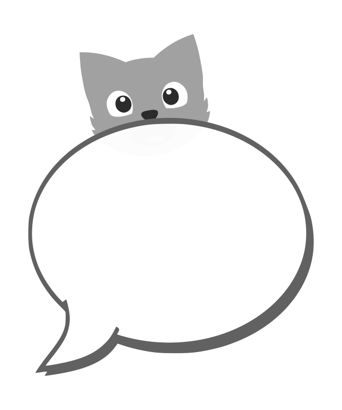 speech balloon with cat