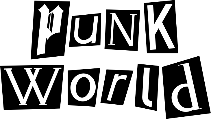 """Punk World"" Black and White Artwork"