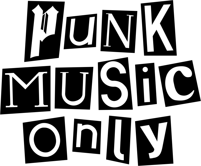 """Punk Music Only"" Black and White Artwork"