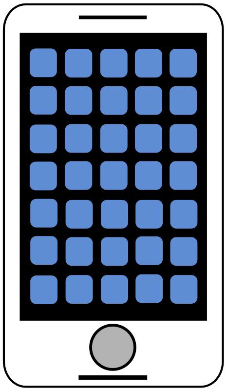Smartphone - Tablet Clipart Icon