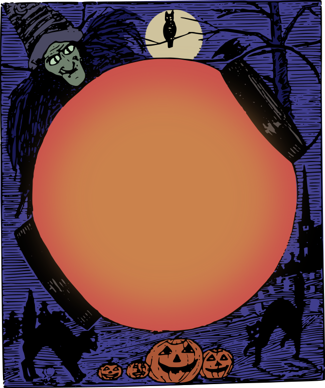 Halloween Frame Colour