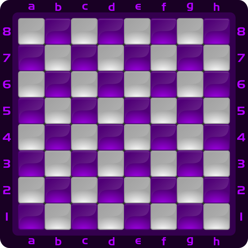 Chessboard Glossy Squares - purple
