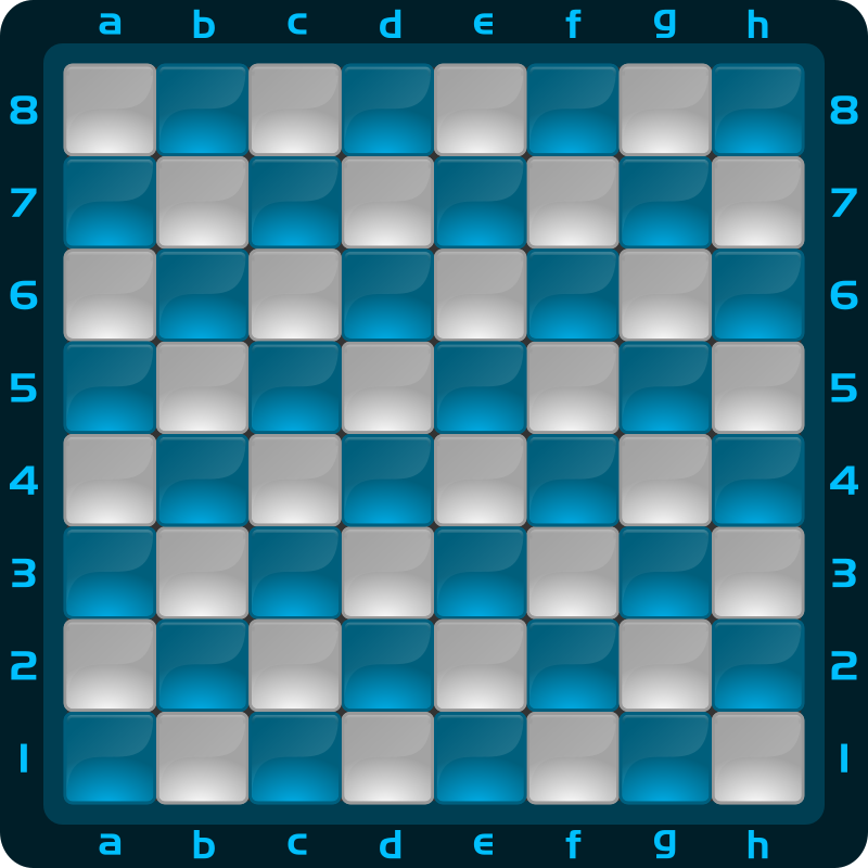 Chessboard Glossy Squares - Light Blue