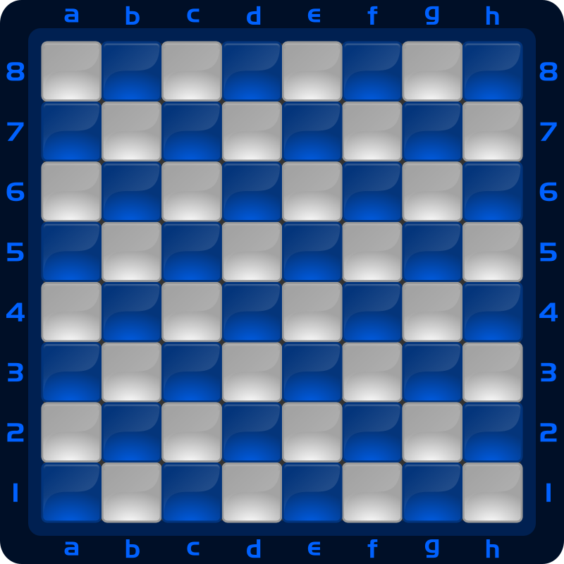 Chessboard Glossy Squares - Blue