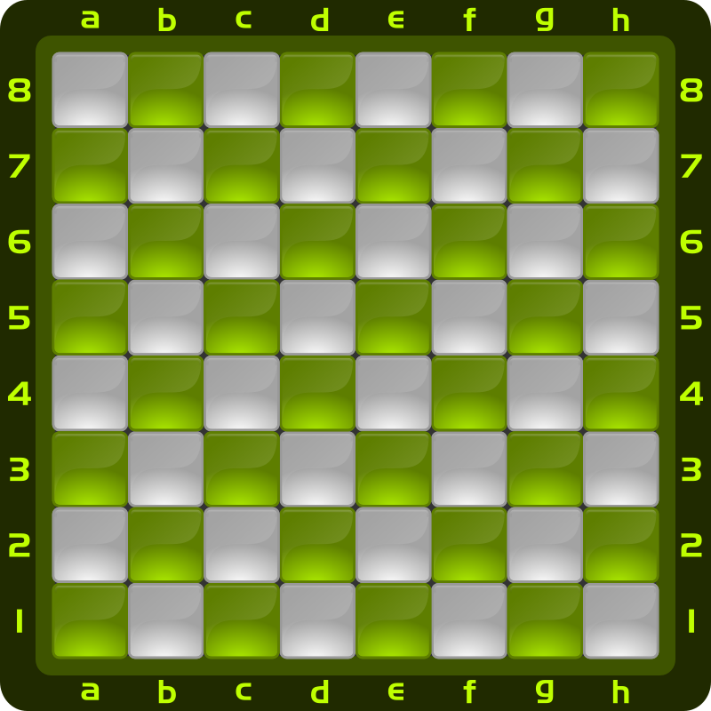 Chessboard Glossy Squares - Light Green
