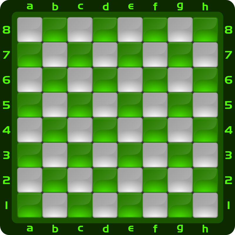 Chessboard Glossy Squares - Green