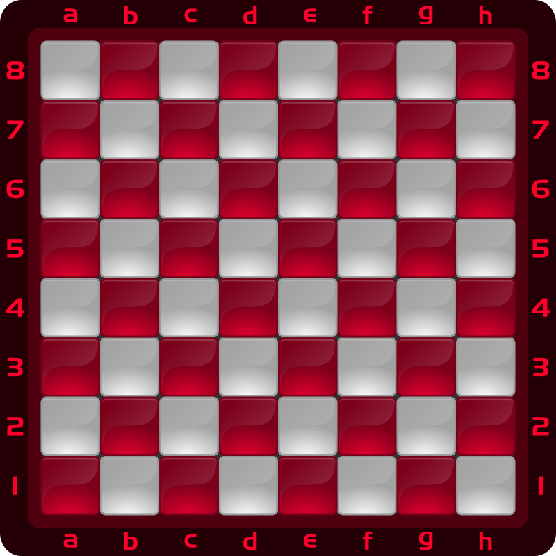 Chessboard Glossy Squares - Red