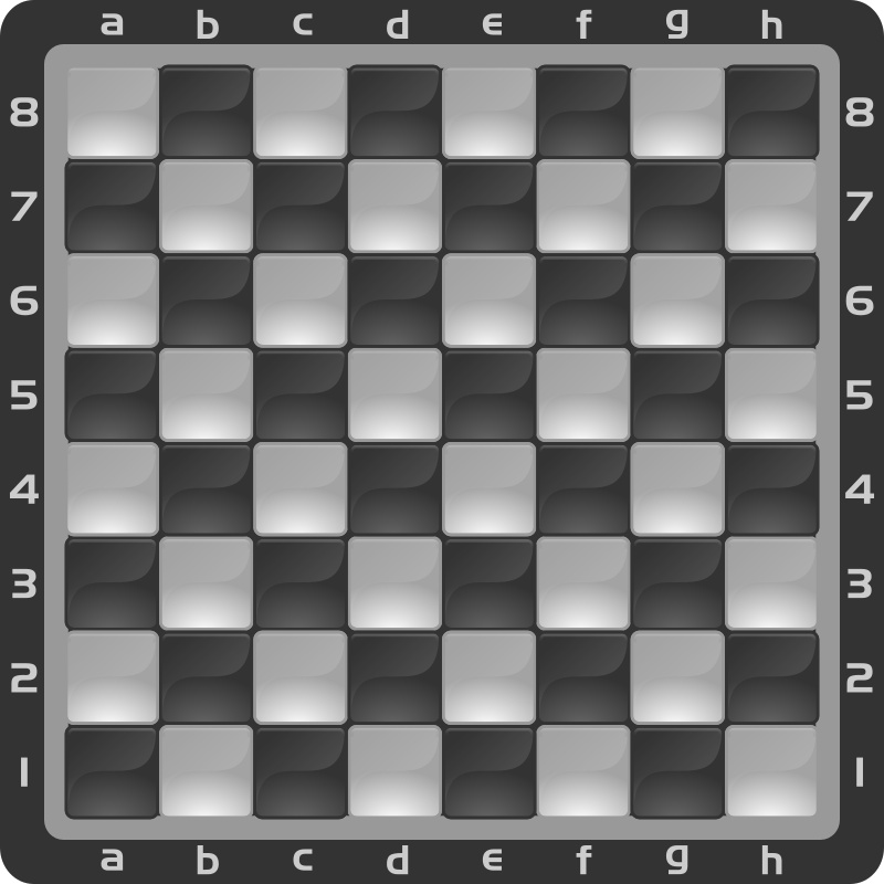 Chessboard Glossy Squares - Black