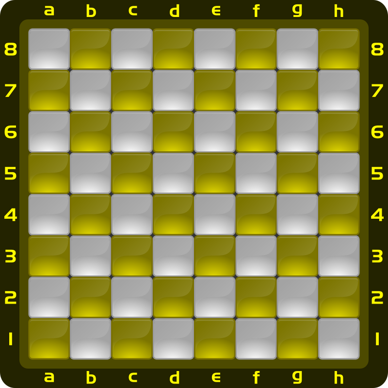 Chessboard Glossy Squares - Yellow