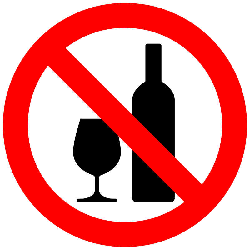 Don't drink alcohol - No tomar alcohol