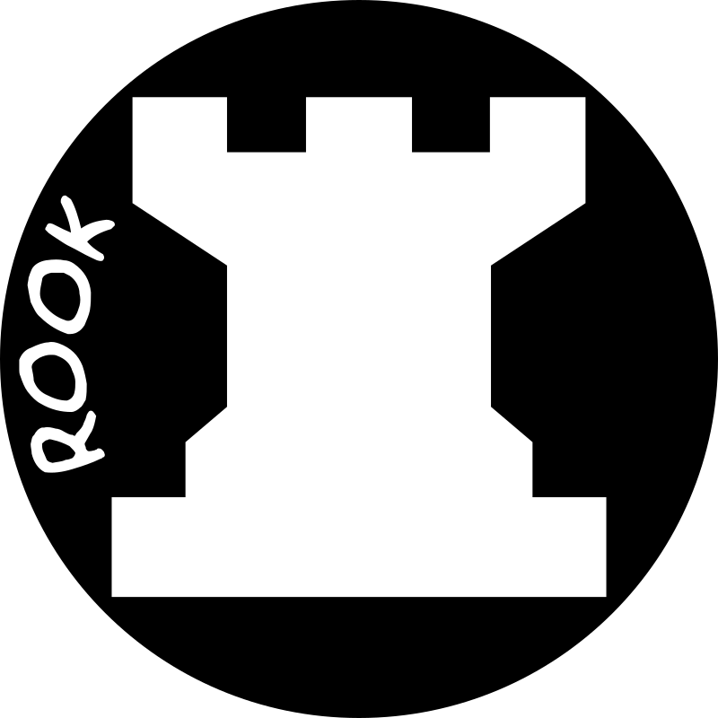 Chess Piece with Name – White Rook