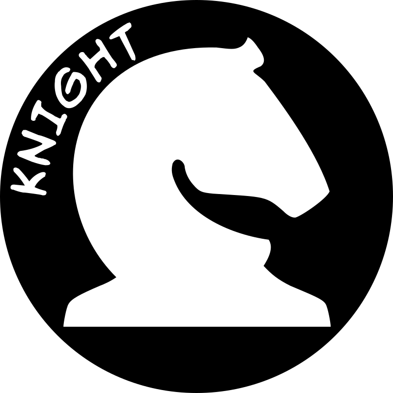 Chess Piece with Name - White Knight