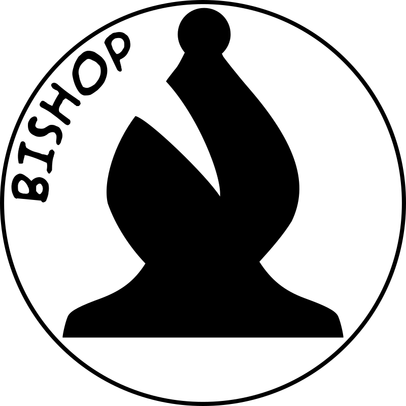 Chess Piece with Name - Black Bishop