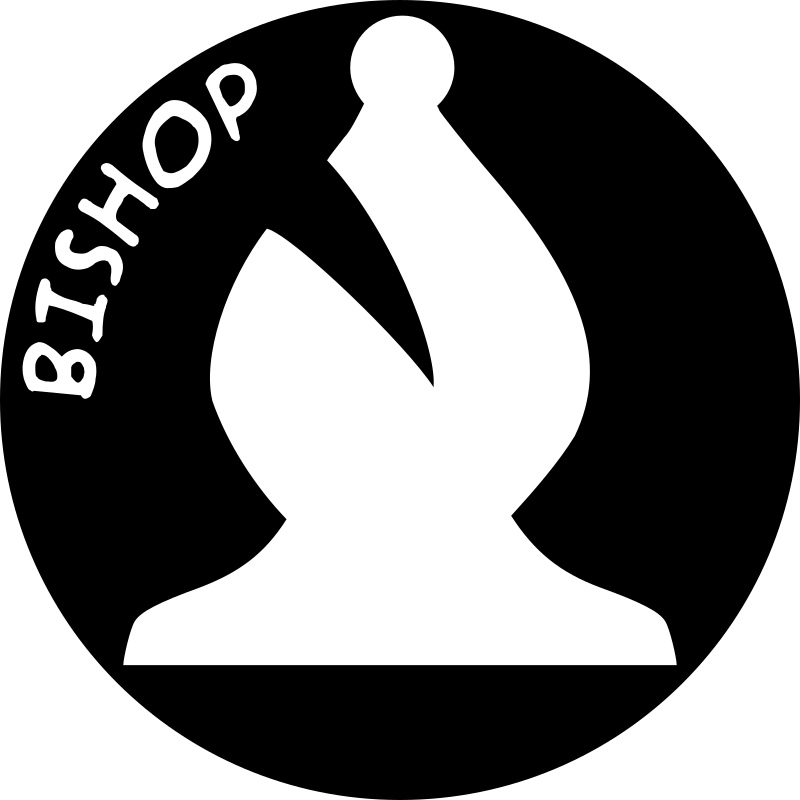 Chess Piece with Name - White Bishop