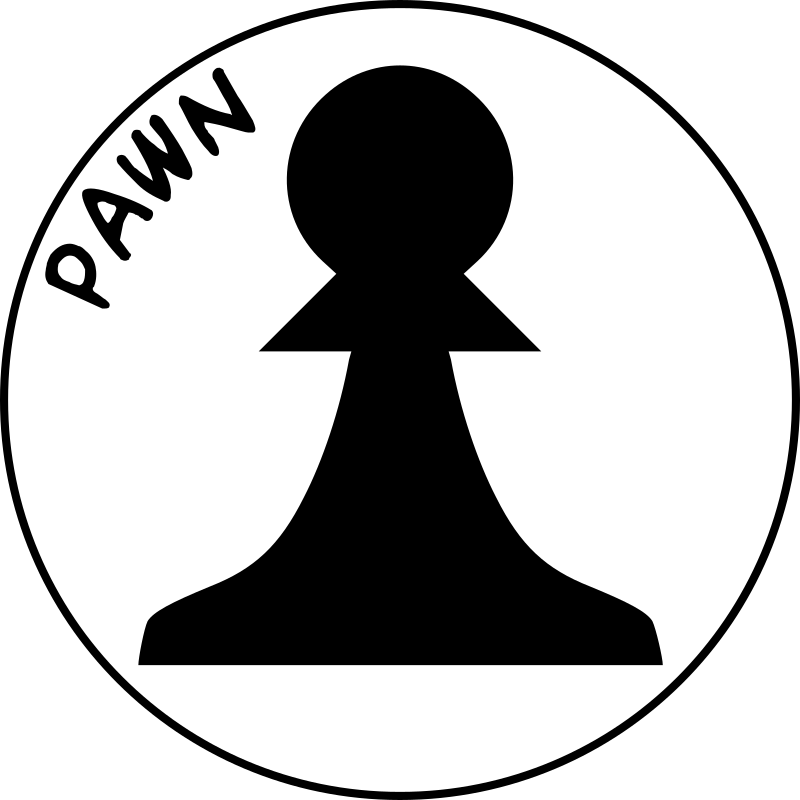Chess Piece with Name - Black Pawn