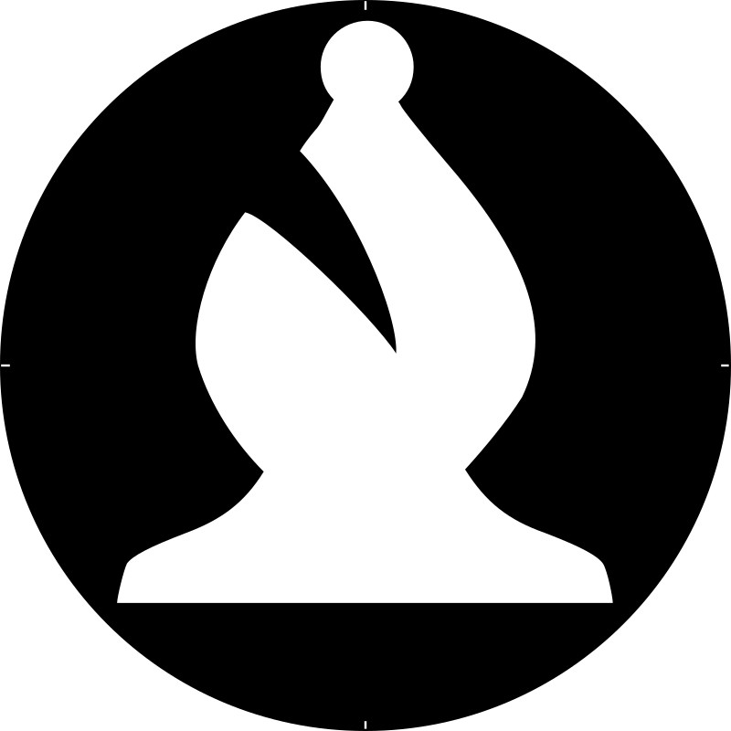Chess Piece Symbol – White Bishop – Alfil Blanco