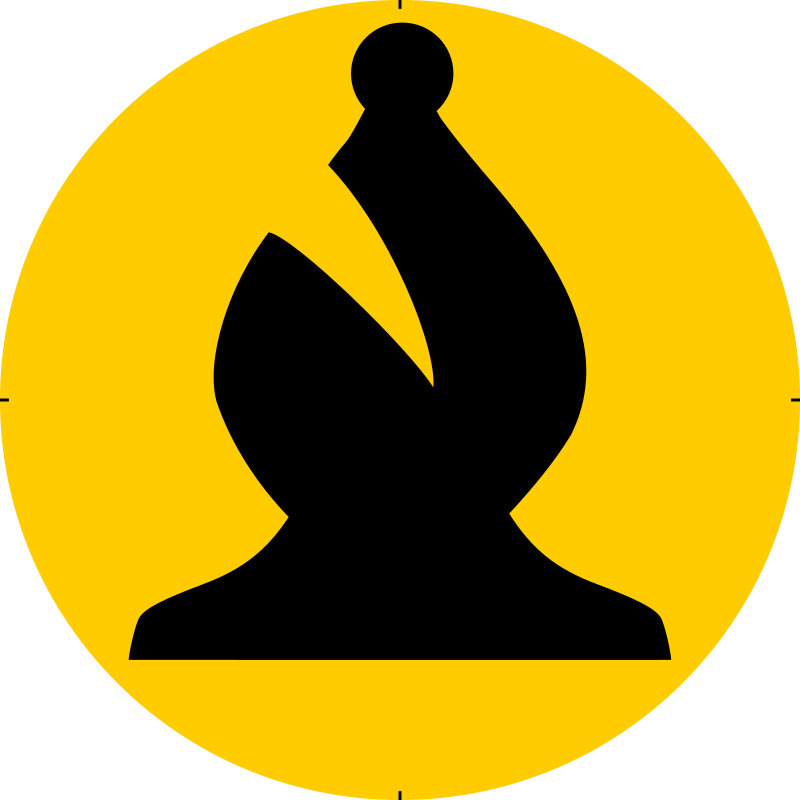 Chess Piece Symbol – Black Bishop – Alfil Negro