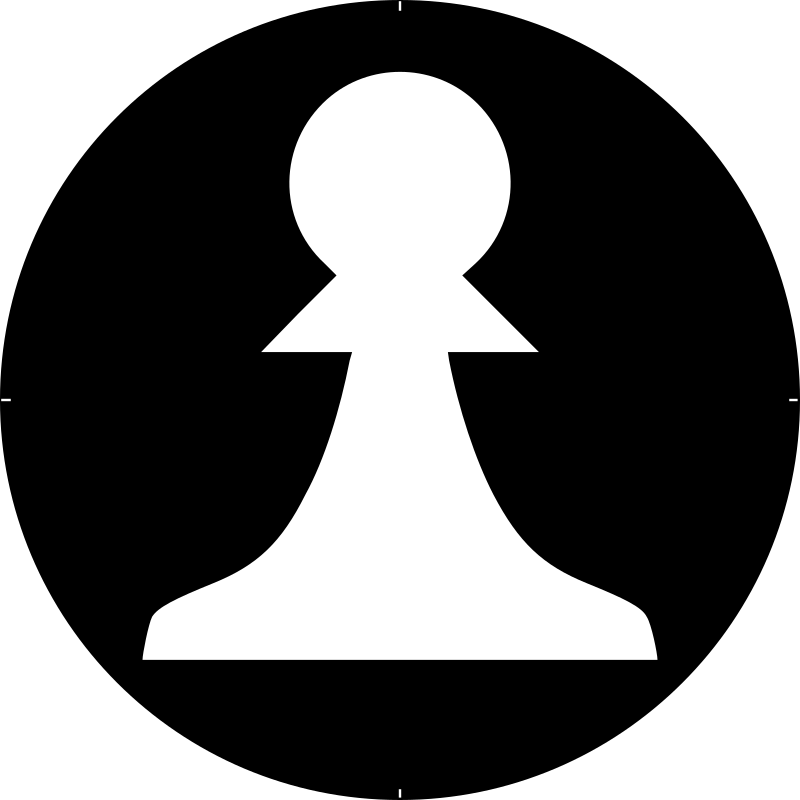 Chess Piece Symbol – White Pawn – Peón Blanco