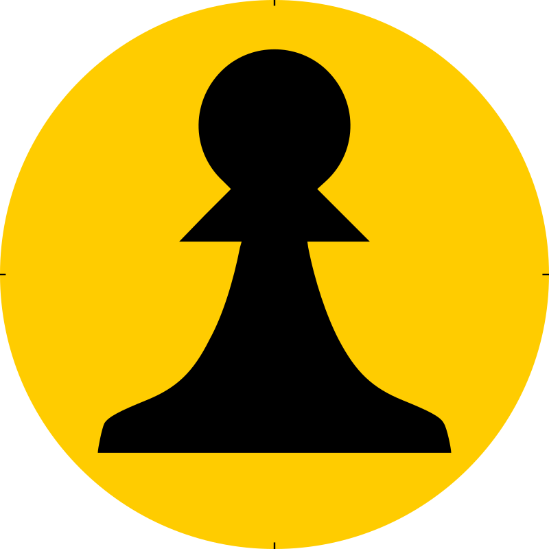 Chess Piece Symbol – Black Pawn – Peón Negro