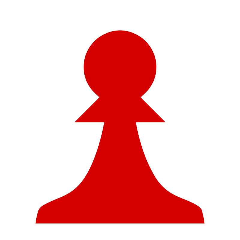 Chess Piece Silhouette - Red Pawn / Peón Rojo