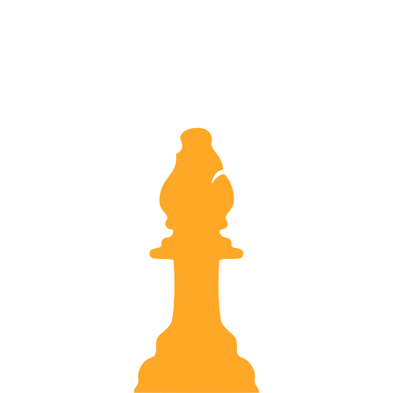 Silhouette Staunton Chess Piece – Bishop / Alfil