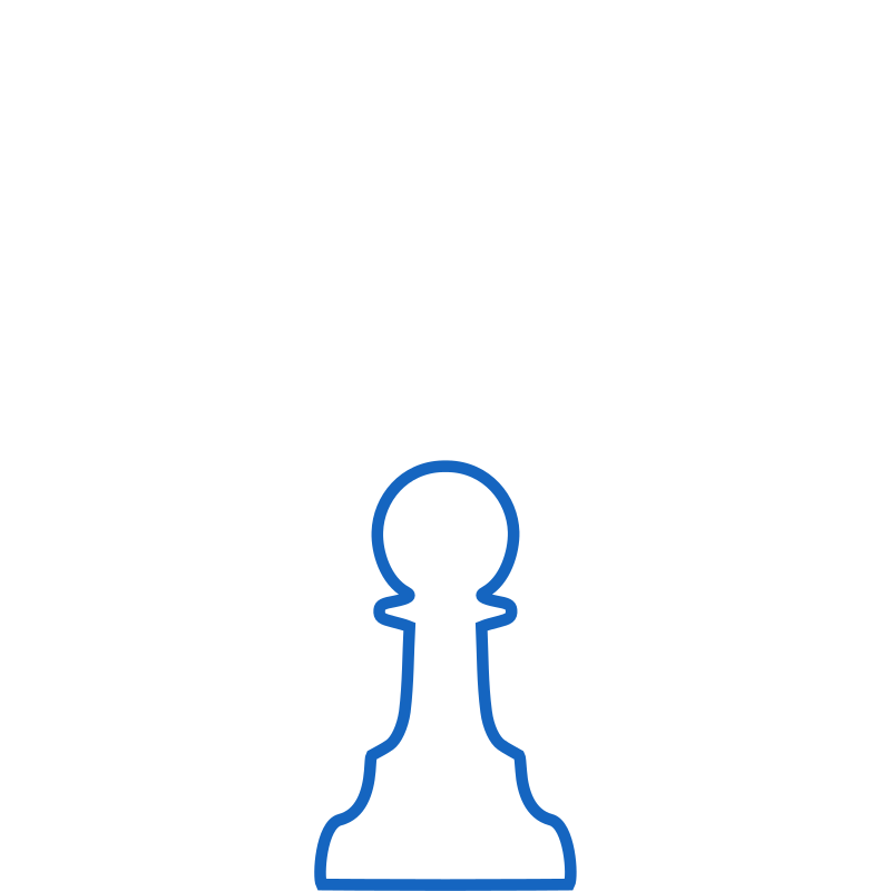 White Silhouette Staunton Chess Piece – Pawn / Peón