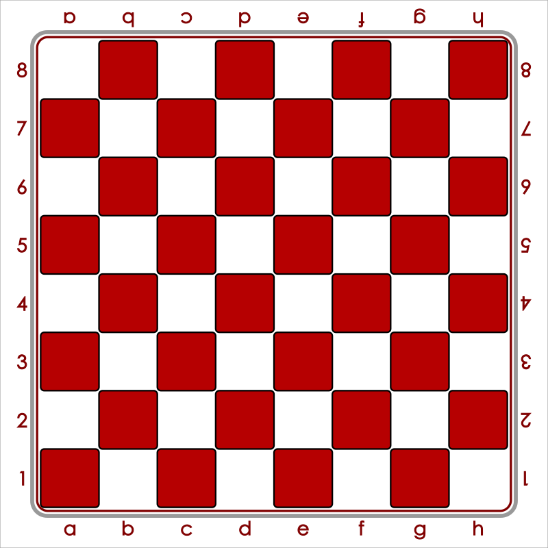 Standard Chess Board - Red / Tablero de Ajedrez - Rojo