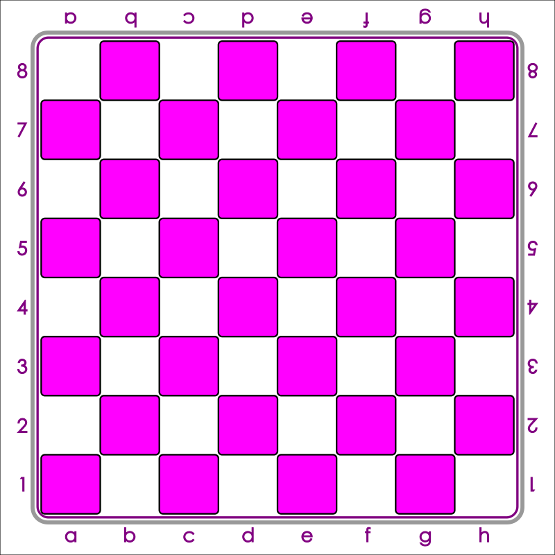Standard Chess Board - Pink / Tablero de Ajedrez - Rosado