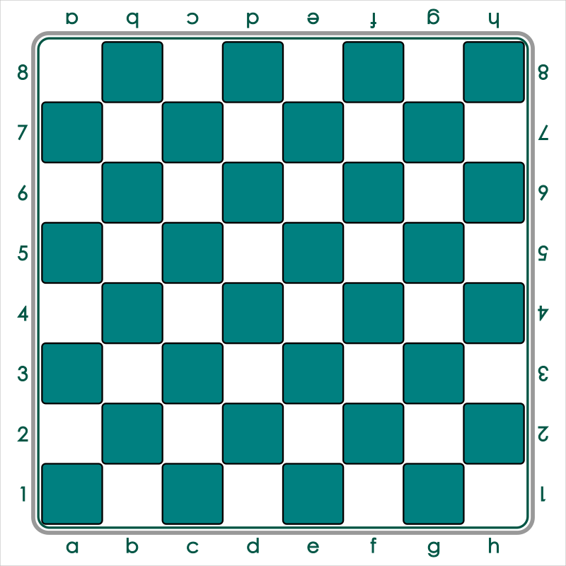 Standard Chess Board - Green / Tablero de Ajedrez - Verde